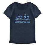 Ladies - Yes B'Y - Black w Blue Lettering